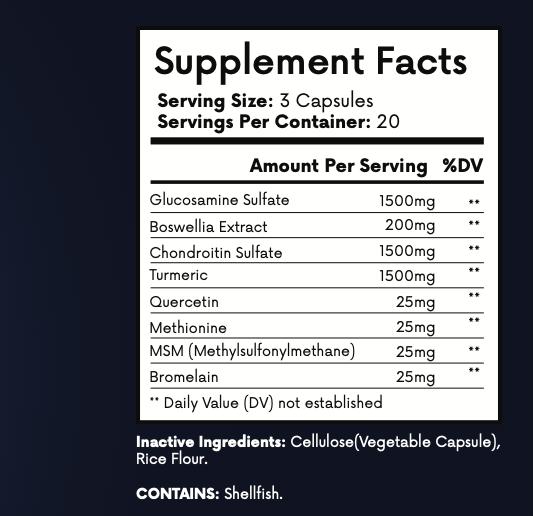 3 Bottles Vita Move Advanced Support Formula Vitamove 60 Capsules 3