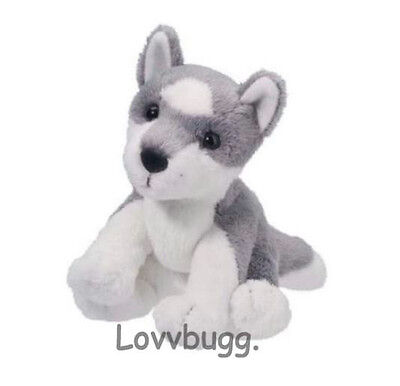 "Lovvbugg Gray Husky Dog for 18"" American Girl Doll Accessory"