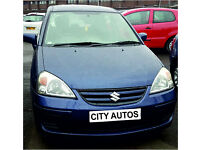 SUZUKI LIANA GLX 2005 95,000 MILES 1.6 PETROL MANUAL 5 DOOR HATCHBACK BLUE