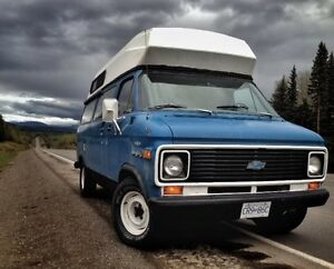 Beautiful reliable classic Chevy 20 camper van.