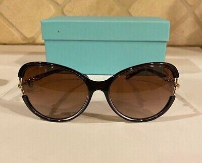 Tiffany Dark Brown Cat Eye Sunglasses with Key Design on (Tiffany Key Sunglasses)