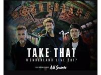 3 Take That Standing Tickets, Face value - £165, Swansea 14th June Supported by All Saints