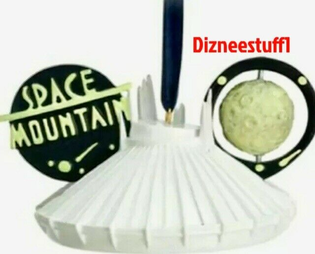 Disney Parks Tomorrowland Space Mountain Mickey Ear Hat Christmas Ornament New