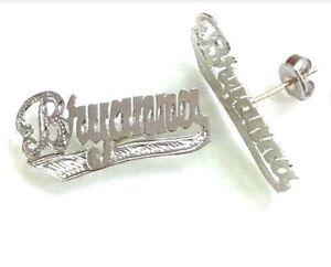 Name Plate Earrings | eBay Name Plate Earrings