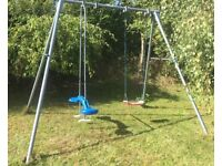 TP seat swing and 'sky ride' swing in very good condition with original instructions and parts