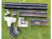 Aluminium Ogee Guttering - lengths, corners, pipe outlet, unions for small jobs, repairs etc .