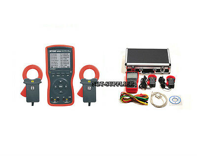 New Etcr4200a Intelligent Double Clamp Digital Phase Volt-ampere Meter 40mm