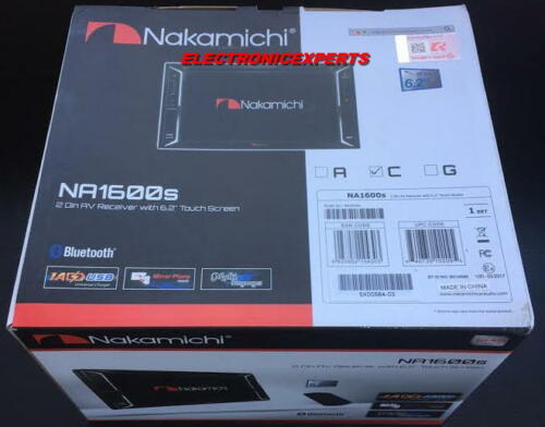"""NAKAMICHI Double-Din 6.2"""" Touchscreen Car Stereo DVD/CD/USB/Bluetooth/SDHC 2-DIN"""