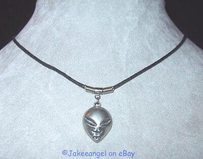 Alien Head Charm Necklace Halloween Space New Weird Unusual Extraterrestrial
