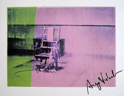 "ANDY WARHOL ""Big Electric Chair"" 1982 Hand Signed Print"