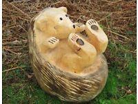 Wooden Carved Hedgehog