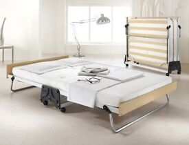 double folding bed JAY-BE guest bed with contract mattress, aluminium frame