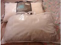 REDUCED-a bed pillows and King Size Duvet cover sets