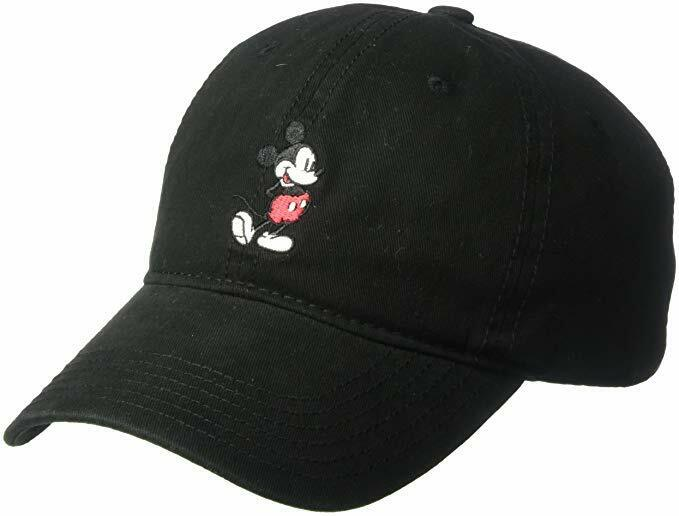 Disney Men's Mickey Mouse Baseball Cap, Black Full Mickey, A