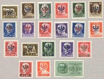 Laibach Mi.Nr. 1-20 postfrisch, Fotobefund Brunel VP