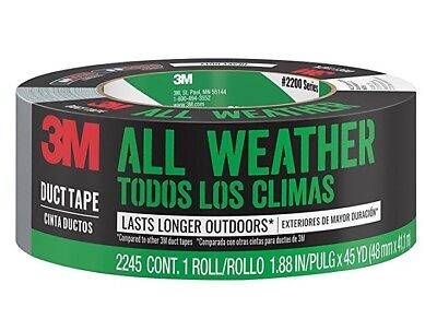 Scotch 2245-a All Weather Heavy-duty Duct Tape Gray 1.88 X 45 Yds