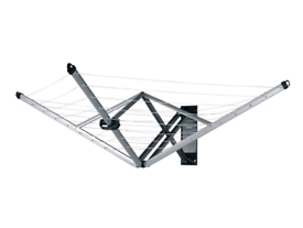 Brabantia WallFix Retractable Washing Line with Fabric Cover, 24 m - S