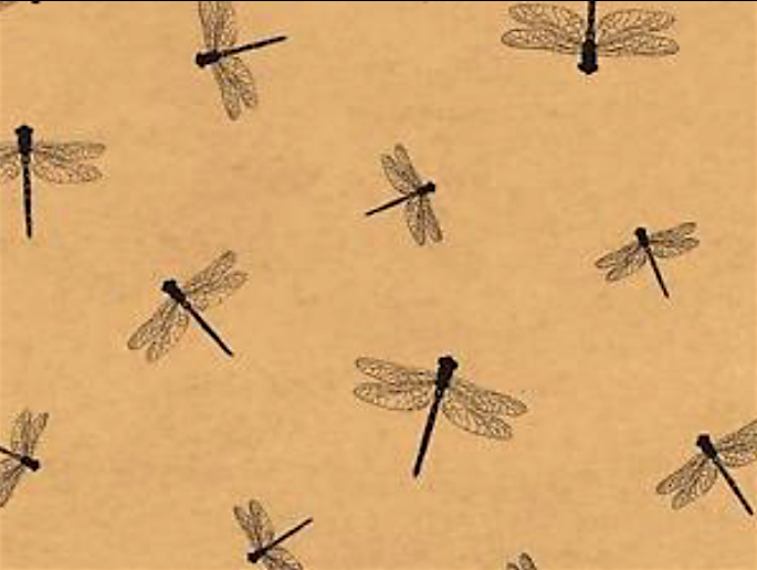 Dragonfly Gift Wrap Tissue Paper- Printed- 10 Large Patterne