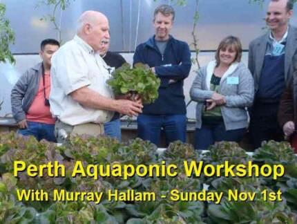 Perth - Aquaponics Workshop with Murray Hallam - Nov 1st Belmont Belmont Area Preview