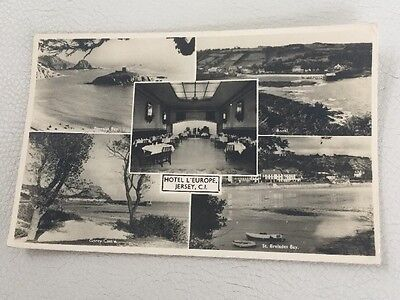 Vintage Black & White Postcard, Jersey Channel Islands VGC