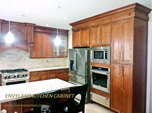 Solid wood kitchen cabinets and MDF cabinets