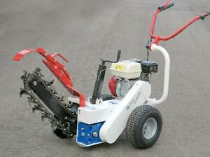 HOC GARBIN M65RL HONDA TRENCHER + 6.5 HP GX200 + 18 INCH DEEP + TUNGSTEN CARBIDE BLADES + 2 YEAR WARRANTY FREE SHIPPING