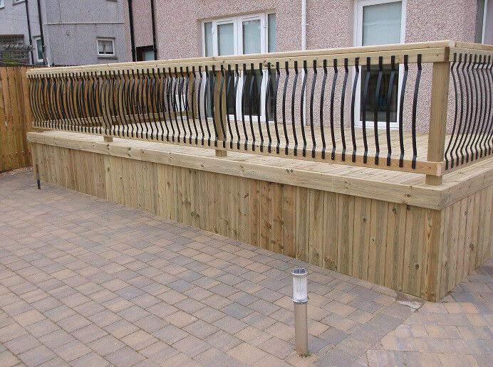 Decking design landscape gardeners garden drainage patio 39 s for Garden decking glasgow