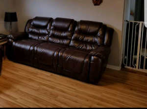 RECLINING SOFA - like new condition