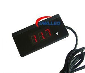 12V-24V-Red-LED-Digital-CAR-VOLT-METER-VOLTAGE-GAUGE-Battery-Monitor