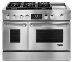 "JENNAIR SS Pro-Style® 48"" Dual-Fuel Range with Griddle and Multi"