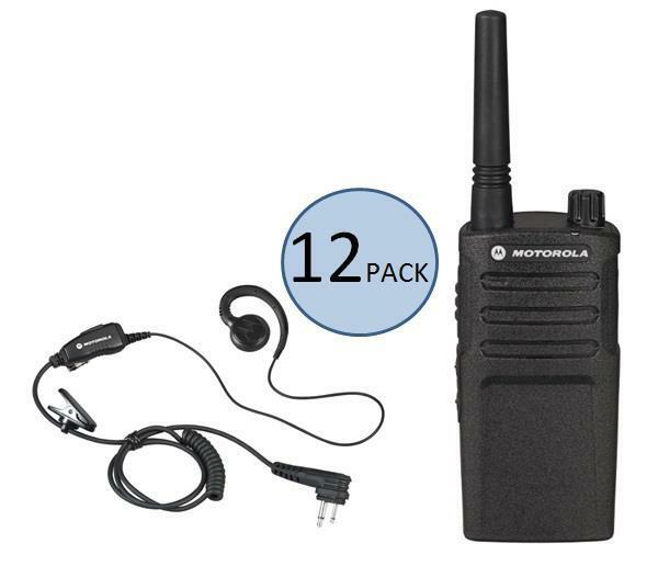 12 Motorola Rmm2050 Two Way Radios With Headsets + 2 Free Radios Via Rebate!