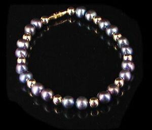 Sterling-Silver-Gold-fill-Black-Mother-Pearl-Bracelet
