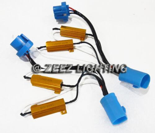 9004/9007/HB5 HID Resistor Decoder Anti-Flicker Bulb Out Error Warning Canceller