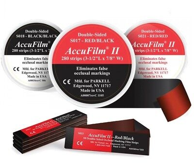 Parkell - Accufilm Ii - Double Sided - 280 Pre-cut Strips - Authorized Dealer