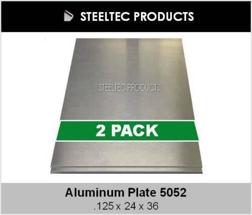 """2 PACK - 1/8"""" Aluminum Sheet Plate 24"""" x 36""""  5052"""