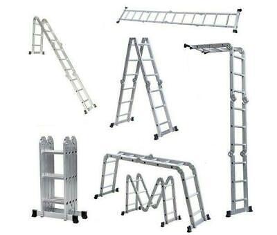 12.5ft Practical 12-Step Joints Aluminum Folding Ladder Buil