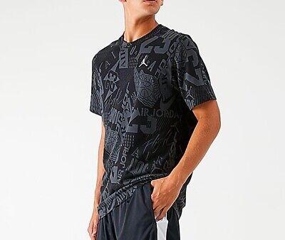 Nike Jordan Air 23 Printed Athletic Gym Short Sleeve Shirt