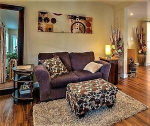 Causeuse, sofa, divan 2 places brune