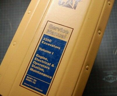 Cat Caterpillar 325c Crawler Excavator Repair Shop Service Manual Owner Operator