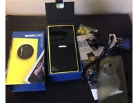 NOKIA 1020 MICROSOFT WINDOWS PHONE IN YELLOW BOXED AS NEW inc ACCESSORIES 12 mnths old £99 Ono