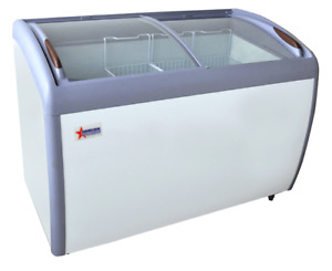 New Omcan Ice Cream Display Freezers With Curved Top