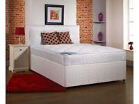 Brand New Crown 4ft6 Double Divan Bed Set Including Headboard