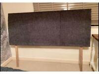 Dark grey fabric super king headboard
