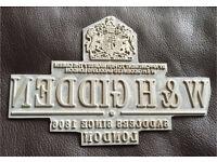 Superb vintage printing block - W & H Gidden