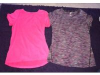 Ladies gym workout clothes, tops and leggings