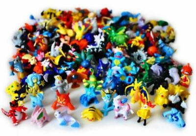 Random 24pcs/set Pikachu Pokemon Mini Action Figure 2-3cm Pocket Monster Toy new
