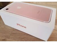 BRAND NEW APPLE IPHONE 7 128GB ROSE GOLD ( EE / ORANGE / T-MOBILE / VIRGIN ) NETWORK BARGAIN CHEAP
