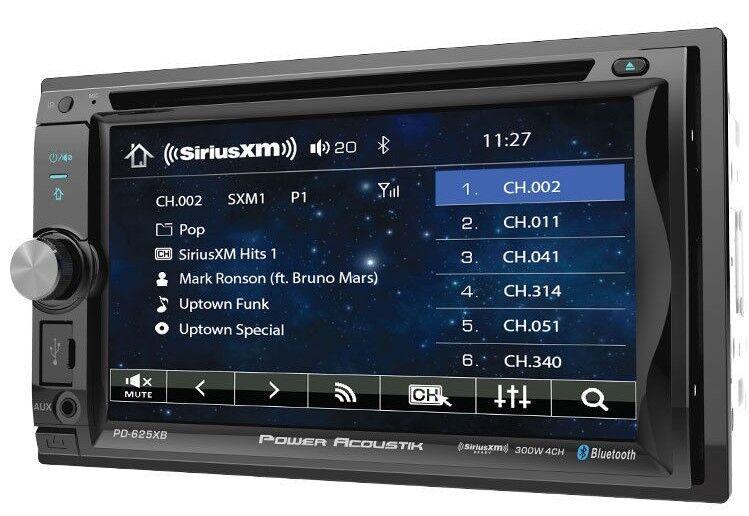 Power Acoustik PD-625XB Double DIN Bluetooth Incite DVD Car