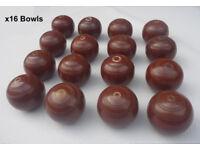 x16 Thomas Taylor Carpet Bowls / Indoor Bowls .. brown