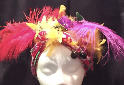 Adult Latin Lady Carmen Miranda Costume Headpiece Turban-Fabric-Floral-Fruit-NEW - Carmen Miranda Costumes